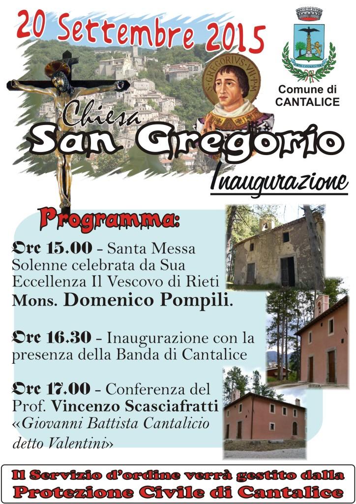 Inaugurazione Chiesa San Gregorio